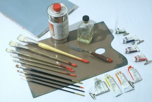 Materiales para aprender a pintar al óleo