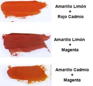 Mezclas naranjas oleo
