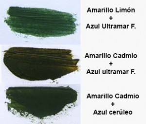 Mezclas verdes oleo