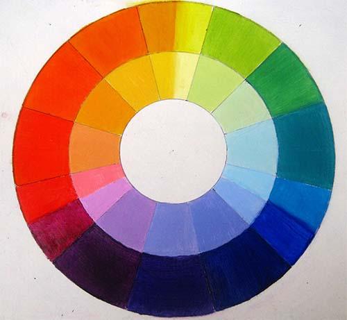 Mi rueda de colores oleo