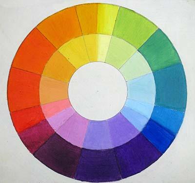 Rueda de colores al oleo