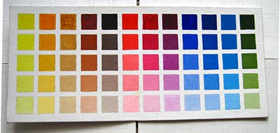 Carta de colores para aprender a pintar al leo pintar al leo - Paleta de colores pared ...