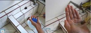 lavar pincel con jabon y poca agua