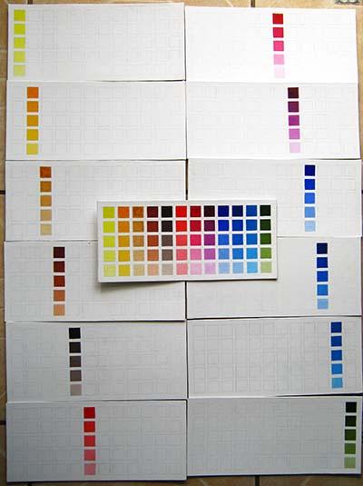 mis cartas de colores al oleo
