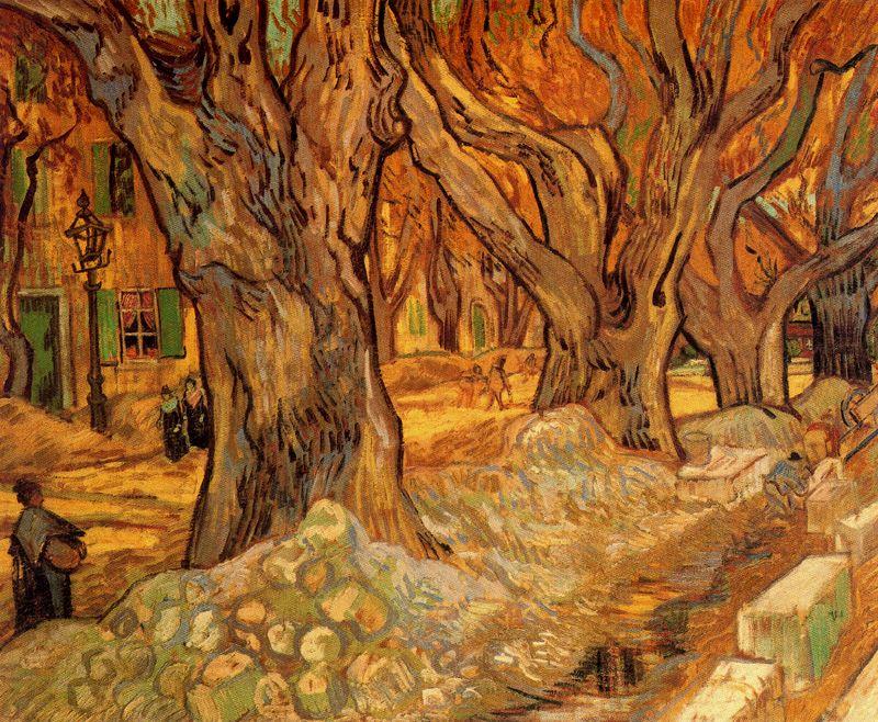 Camineros en el Boulevard de Victor Hugo en Saint remy Van Gogh 1889