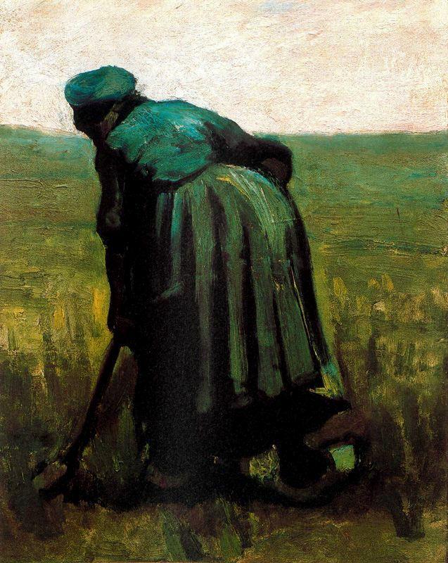 Campesina cavando Van Gogh1885