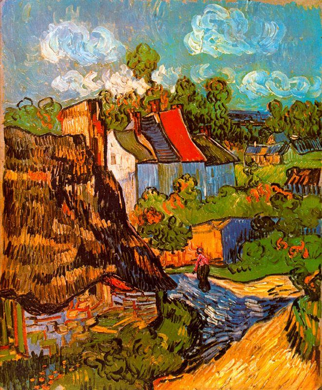 Casas en Auvers Van Gogh 1890