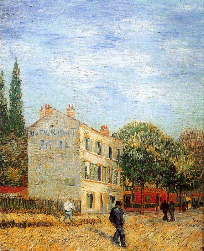 El Restaurante Rispal en Asnieres Van Gogh 1887