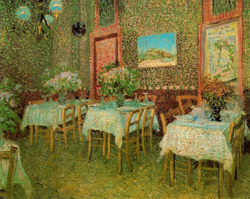 Interior de un restaurante Van Gogh 1887