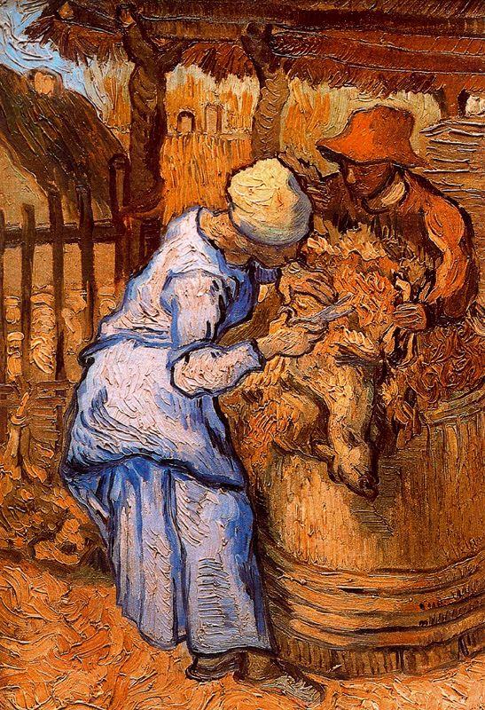 Los esquiladores Van Gogh 1889