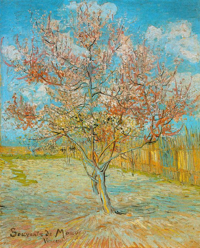 Melocotonero en flor2 Van Gogh 1888