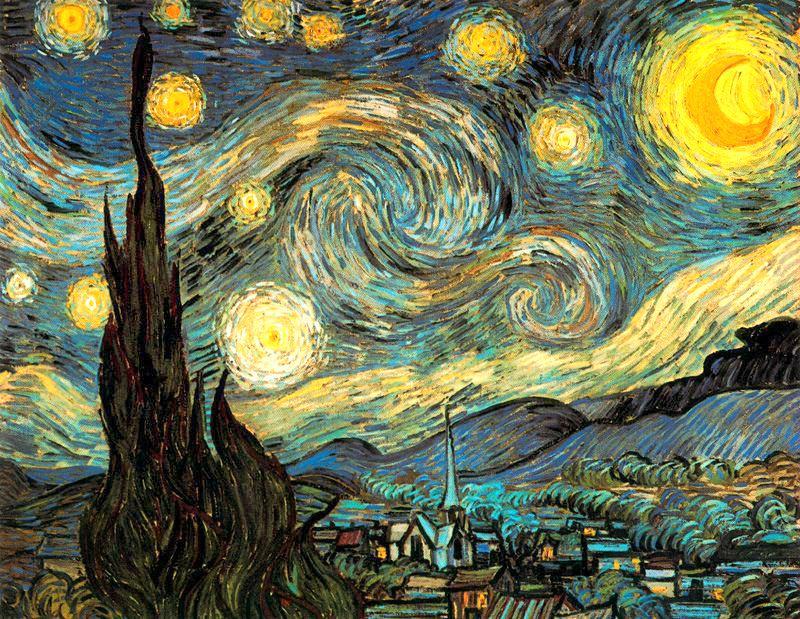 Noche estrellada Van Gogh 1889