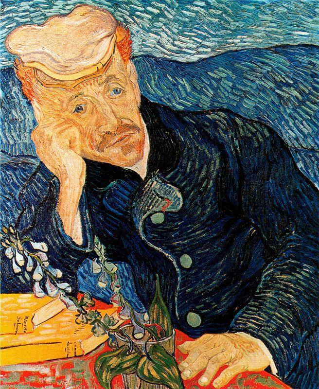 Retrato del doctor Gachet Van Gogh 1890