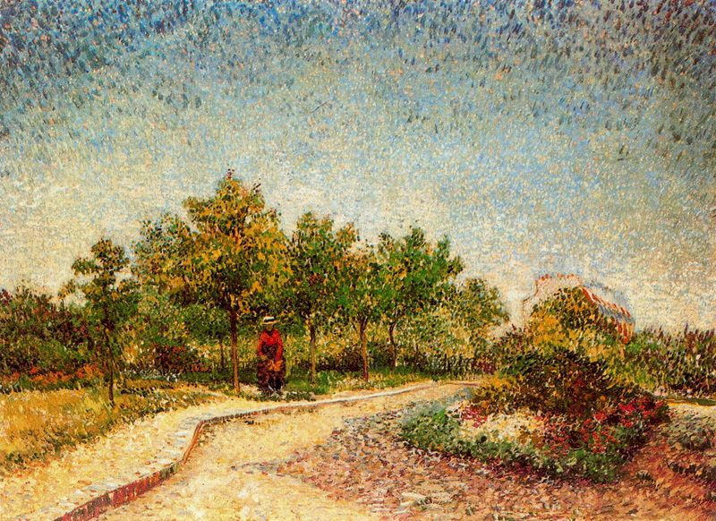 Senda del parque Voyer dArgenson en Asnieres 2 Van Gogh 1887