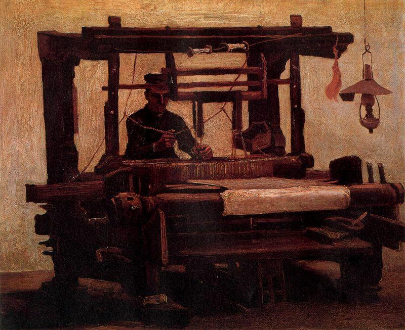 Tejedor al telar Van Gogh1884
