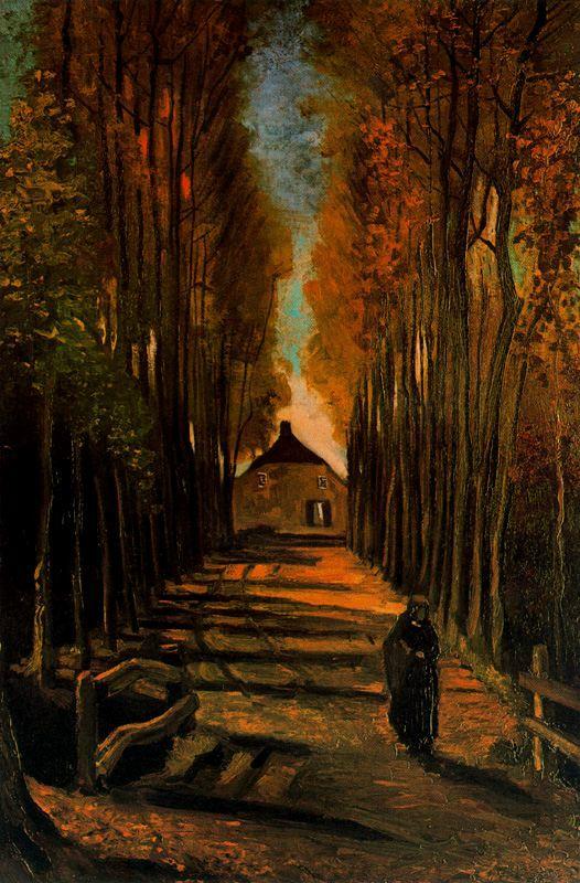 Alameda en otono Van Gogh1884