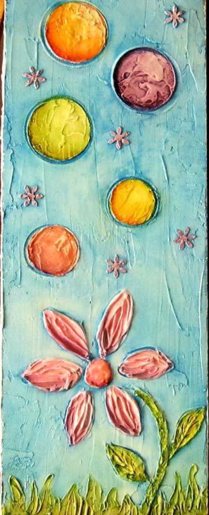 cuadro infantil en textura oleo