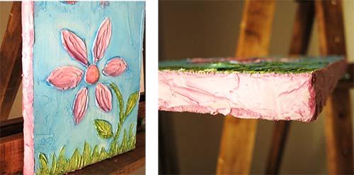 marco cuadro infantil textura en pasta para modelar