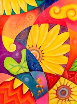 Hermel-Alejandre-acrilico-Serie-floral