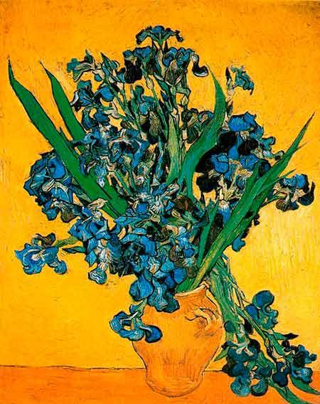 Jarron-con-lirios-sobre-fondo-amarillo-Van-Gogh