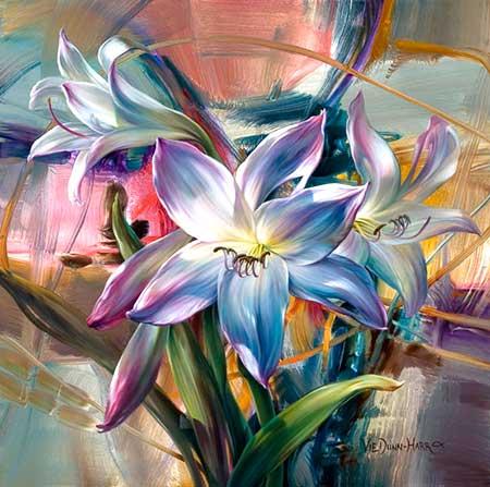 pintar flores al oleo Vie Dunn Harr