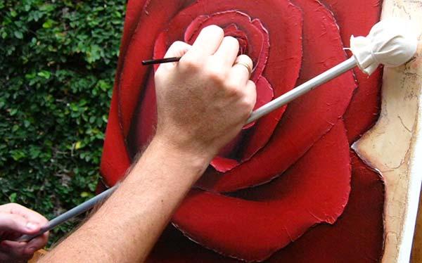 Uso-del-tiento-o-mahl-stick-para-pintor