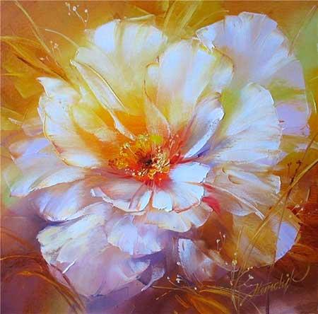 C mo pintar flores paso a paso artistas que pintan for Fotos para cuadros grandes