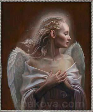 Cuadro tecnica flamenca pintura Rybakova
