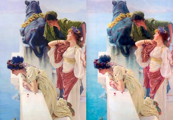 Copy A Coign of Vantage Sir Lawrence Alma-Tadema