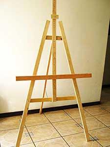 Caballete para pintar hecho en casa