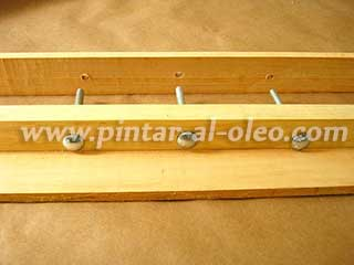 soporte-horizontal tornillos caballete