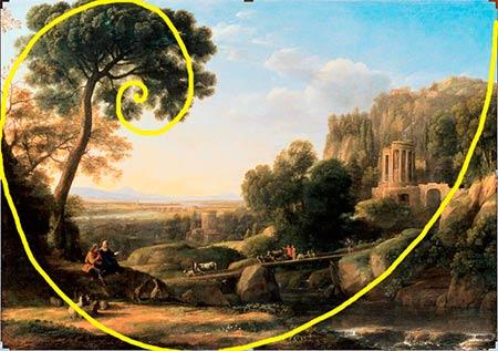Espiral Dorada Claude Lorrain Paisaje pastoral