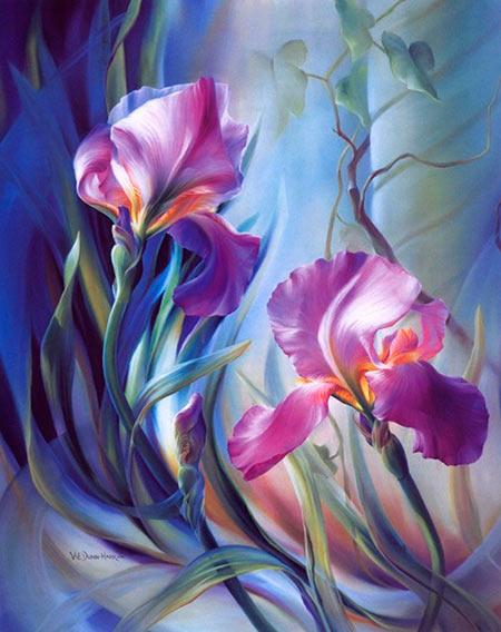 Pintar flores como Vie Dunn Harr