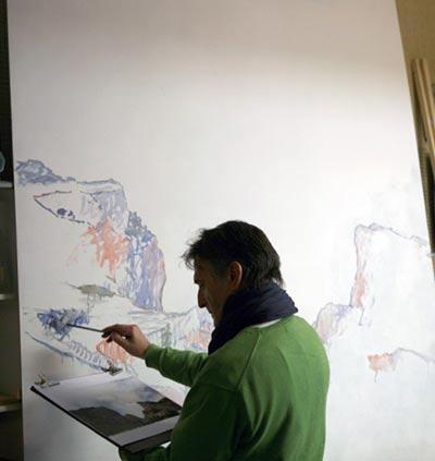 Pintar con esp tula paisajes hermosos pintar al leo for Paisajes para una pared