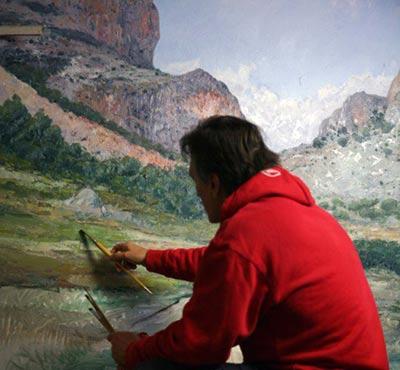 ultimas capas pintura al oleo de paisaje