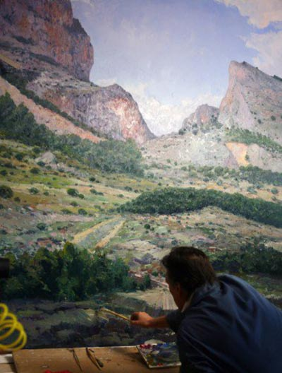 Detalles finales pintura al oleo paisajes