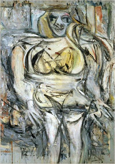 cuadro abstracto figurativo