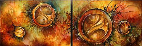 Pintura abstracta y cuadros modernos pintar al leo for Imagenes de cuadros abstractos rusticos