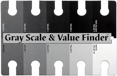 Escala de valores tonales grises comercial