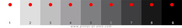 Escala grises para evaluar valor tonal imprimir pdf
