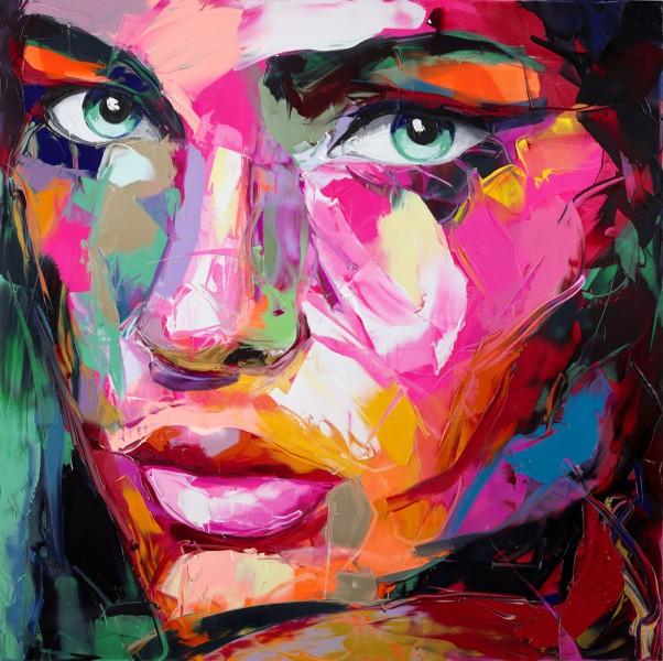 Pintura con espátula, retrato