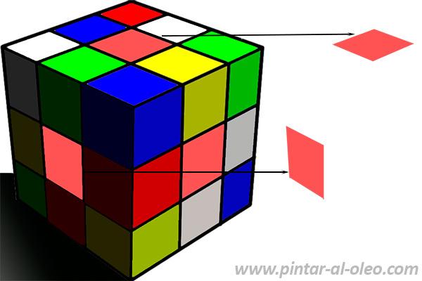 Ilusion optica contraste simultaneo colores y valor