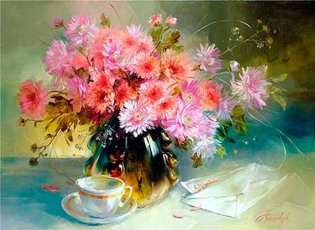 Cómo Pintar Flores Paso A Paso Artistas Que Pintan Flores Pintar Al óleo