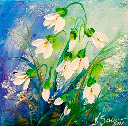 Ellos Oil Paintings Flowers