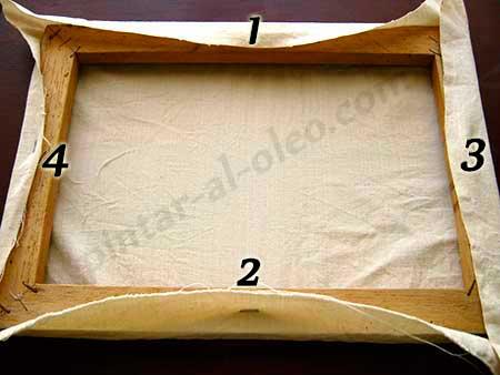 Hacer Y Preparar Lienzos Tensar Tela En Bastidor Pintar Al Oleo - Como-hacer-cuadros-de-tela