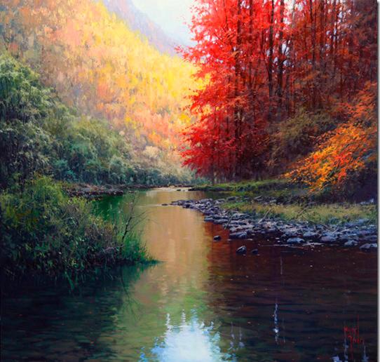 Pintar con esp tula paisajes hermosos pintar al leo - Los cuadros mas bonitos ...