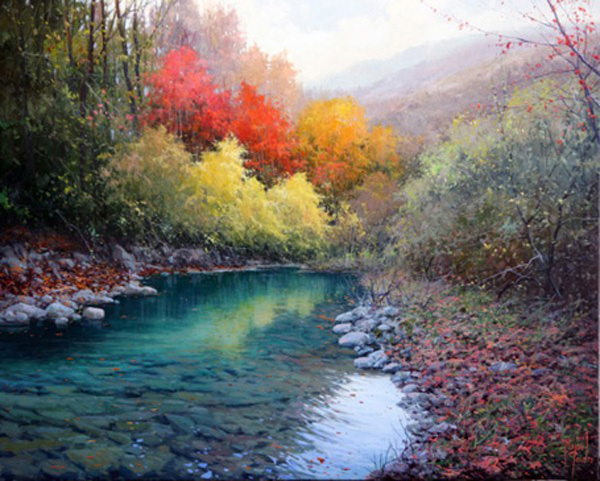 Pintar con esp tula paisajes hermosos pintar al leo for Escaleras pintor precios